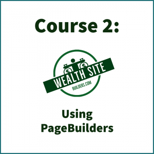 Course 2: Using Pagebuilders